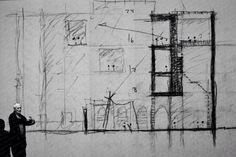 Peter Zumthor, a Swiss architect and winner of the 2009 Pritzker Prize. Big Architects, Famous Architects, Architecture Sketchbook, Art And Architecture, Ancient Architecture, Kolumba Museum, Peter Zumthor Architecture, Therme Vals, Conceptual Sketches