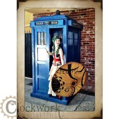 So I was shopping steampunk clothing, and BAM a picture of the TARDIS...too bad they're not selling that too (;    Tea Girls Gear© Tea Stained Union Flag Satin Corset