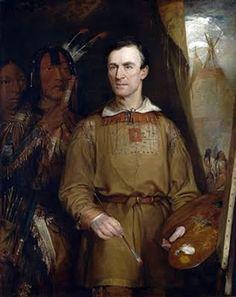 George Catlin self portrait. 1796-1872.