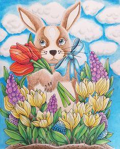 """Páči sa mi to: 188, komentáre: 15 – Stanka (@stanislava007) na Instagrame: """"Happy Easter to everyone! Sagor och Sägner by Emelie Lidehäl Öberg. Used Crayola pencils, Caran…"""""""