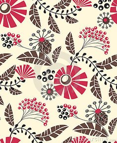 Seamless floral pattern by Helissente, via Dreamstime