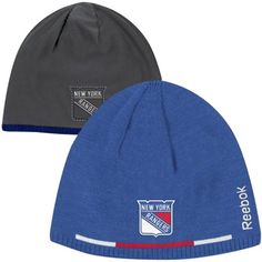 New York Rangers Knit Hat by Reebok - Player Reversible Knit Hat - Royal  Blue  ee3a2d696aad
