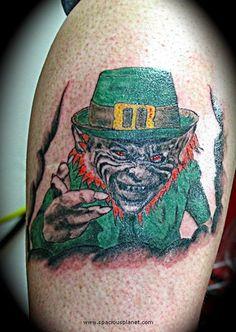 Beautiful Supercool Leprechaun Tattoos img224fd0d374632296a