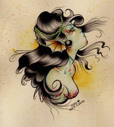traditional tattoo mermaid | Tagged: Jessica Pooka Herrera tattoos mermaid