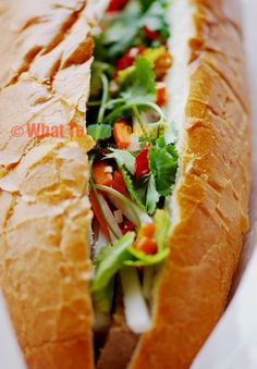Authentic Vietnamese Banh Mi Sandwich