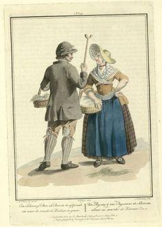 Un Paysan et une paysanne de Scheuren allant au Marché de Zierikzee (Zeeland)