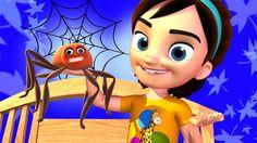 Itsy Bitsy Spider Nursery Rhymes Song 3D - Kayla Preschool Kids Cartoon ...