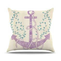 "Pom Graphic Design ""Tribal Nautica II"" Throw Pillow 