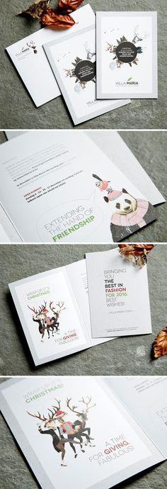 Villa Maria Print - invitation - christmas - kerstkaart - illustratie