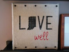 12x12 Live well Indiana State Painting by BeccasBitsandPieces, $28.00