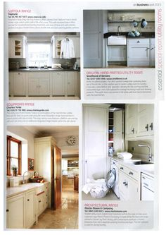 Bespoke utility rooms from Martin Moore martinnmoore.com Essential Kitchen & Bathroom Business April 2015