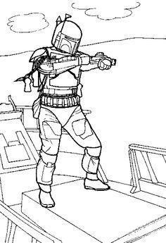 star wars coloring page more boba
