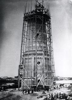 Großer Leuchtturm im Bau 1879