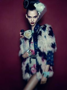 Karlie Kloss by Alexi Lubomirski for Vogue Germany December 2011
