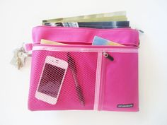 slim service pouch with 3 pockets pink 595 a slim service pouch that is