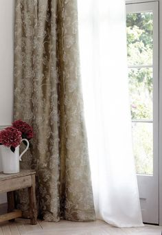 New - Halkin Silks Collection from James Hare Decor Blinds, Curtains With Blinds, Hare, Sweet Home, Collection, Design, Home Decor, Decoration Home, House Beautiful