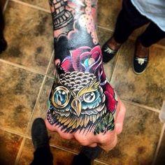Owl. I love those colors!