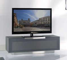 Modrest Bergamo - BG422-ANM Modern Metallic Grey Media TV Stand Made in Italy