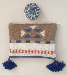 Wooven clutch bag handmade in Crete