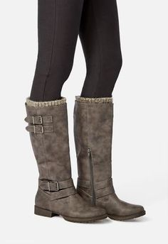 dfbfe95fff5c1 Flat boots for women JustFab Flat Boots, Boot Cuffs, Riding Boots, Cleanse,