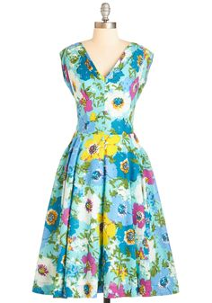 Just in Timeless Dress in Blossoms