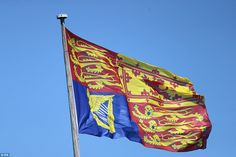The Royal Standard flying above Windsor Castle before the annual Order of the Garter Service