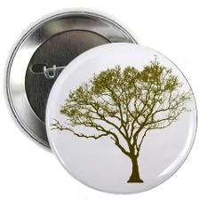 """Green Tree 2.25"""" Button"""