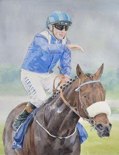 Sara Hodson Fine Art- Irish 2,000 Guineas winner Awtaad