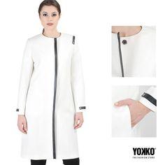 SALES   Mademoiselle LARA YOKKO   fall16  #sales #white #coat #jackets #fashion #women #yokkoinspiration Smart Coat, Jackets Fashion, Mademoiselle, Cold Day, Quilted Jacket, Wool Coat, Fashion Women, Duster Coat, Cover Up