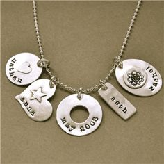 Lisa Leonard Designs--I have my grandbabies names on my necklace like this one.  Love her designs and she stands behind her products.