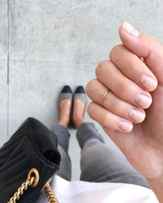 """9,541 Likes, 116 Comments - BRITTANY XAVIER (@thriftsandthreads) on Instagram: """"Fresh mani from @oliveandjune, love the simple and clean design! """""""