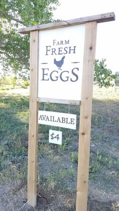 sale signage Eggs for sale signage near the road for egg sales Keeping Chickens, Raising Chickens, Backyard Farming, Chickens Backyard, Stand Design, Booth Design, Banner Design, Design Design, Graphic Design