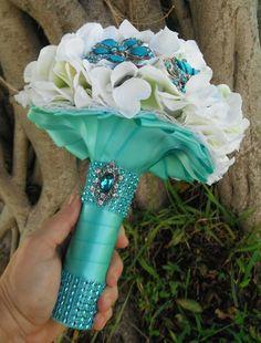 Tiffany blue wedding Tiffany Blue Bouquet  by AngelicasBridal, $180.00