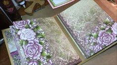 Heartfelt Creations Tutorial Pt4 Album and Inserts using Raindrops on Roses paper