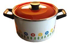 Vintage Scandinavian Enamel Casserole Dish Vintage Enamelware, Casserole Dishes, Kitchenware, Mid-century Modern, Scandinavian, Retro Vintage, Mid Century, Style, Swag