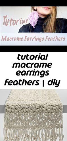 Macrame Earrings, Diy Earrings, Macrame Projects, Macrame Tutorial, Feathers, Crochet Hats, Keychains, Amp, Youtube