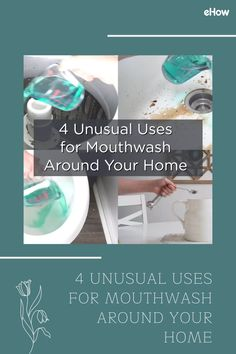 , 4 Unusual Uses for Mouthwash Around Your Home , While mouthwash is typically used to freshen breath and kill germs have in our mouths, it surprisingly has some other uses that are really cool. Diy Home Cleaning, Deep Cleaning Tips, House Cleaning Tips, Diy Cleaning Products, Cleaning Hacks, Household Products, Cleaning Recipes, Halloween Decorations For Kids, Diy Plant Stand