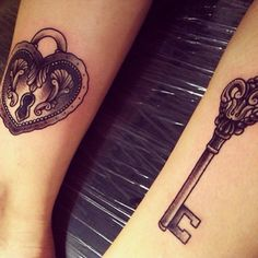 Best friend locket tattoo