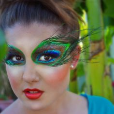 Peacock eye makeup  Nola Hair dresser/ Makeup Artist Amanda Bravender  Model Grace Hart  Photography AHB