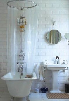 Shabby Chic Bathroom...love everything about this room!