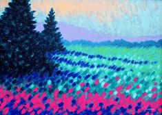 Violet Hills Painting by John Nolan