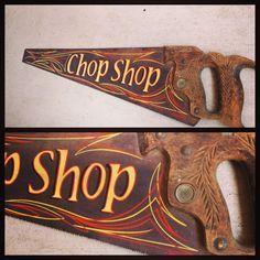 Vintage Hand Saw Hot Rod Chop Shop Pinstriping Rat Rod Rockabilly