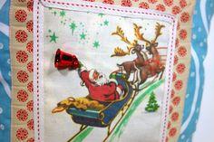 Child's Christmas pillow Santa and sleigh by JoJosArtisticDesign