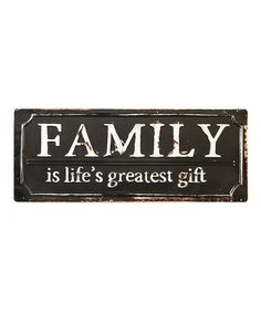 Look at this #zulilyfind! 'Family' Wall Sign #zulilyfinds