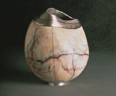 Sarah Perkins Orchid Vessel  copper, silver, enamel  private collection, Kansas