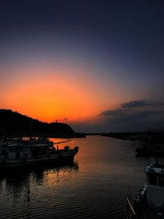 Sunset Port Nushima, Minamiawaji, Hyogo, Japan