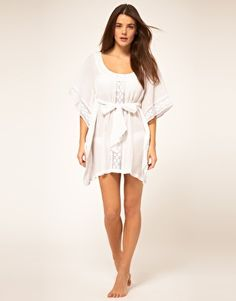 French Connection Kaftan With Cut Work Spot   $ 49.98