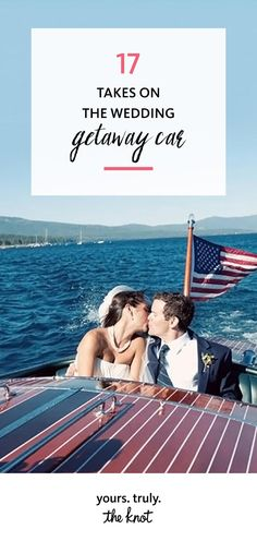 Make your wedding exit just as memorable as your entrance with these fun ways to ride off into the sunset as a married couple. Wedding Getaway Car, Wedding Transportation, Wedding Exits, Entrance, How To Memorize Things, Sunset, Couples, Fun, Entryway