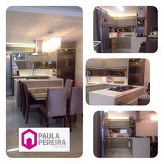 Cozinha Integrada #paulapereiraarquitetura #projetodeinteriores #cozinhaintegrada #fogaodeilha #espelhobronze #arquitetura #amoarquitetura #artemag #perfilmóveis #luminsiluminacao