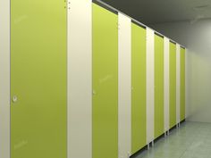 Jialifu PVC toilet partition  head rail braced style with bright color for public use
